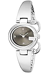 Gucci Women's YA134506 Guccissima Diamond-Accented Stainless Steel Bangle Watch