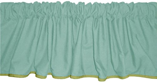 Baby Doll Bedding Solid Two tone  Window Valance, Yellow/Mint by BabyDoll Bedding