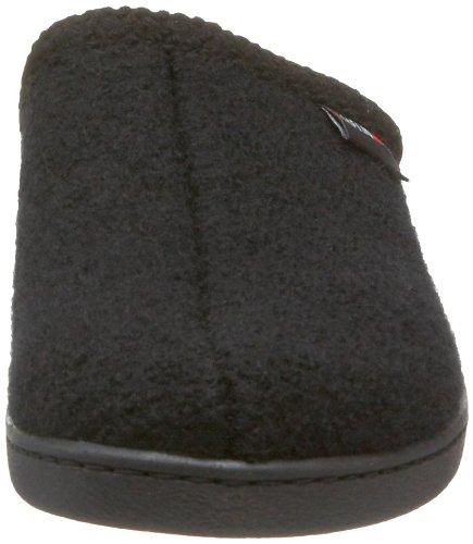 Haflinger Unisex Bij Gekookte Wol Harde Zool Slipper Zwart