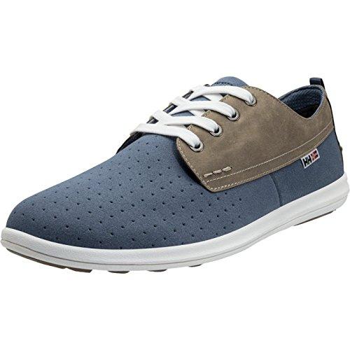 Helly Hansen 11203 Men's Bergshaven Vintage Sneaker, Vintage Indigo/Aluminum/Shadow Blue/Off White/Sperry Gum - 8