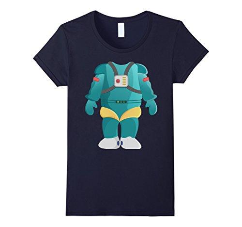 [Women's Easy Halloween Costume Funny Alien Robot Costume Shirt XL Navy] (Female Robot Costumes)