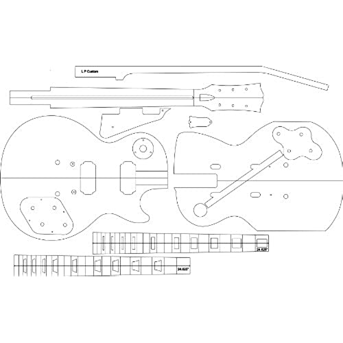 guitar template amazon com