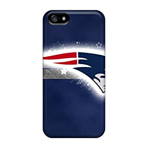 Rugged Skin Cases Covers For Iphone 5/5s- Eco-friendly Packaging(new England Patriots)