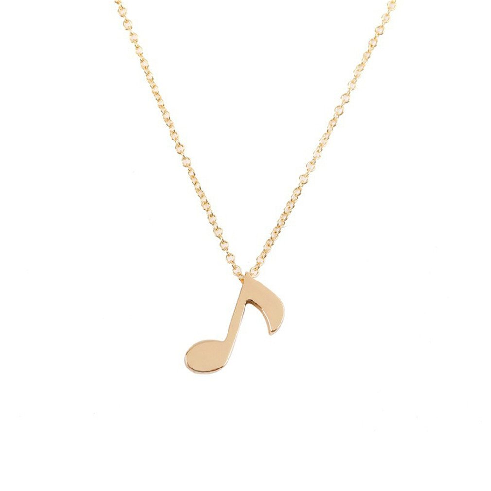 HUAYUQING Musical Note Pendant Necklace Boho Jewelry Femme Collier