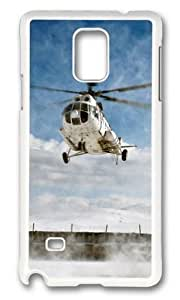 MOKSHOP Adorable Helicopter flight Hard Case Protective Shell Cell Phone Cover For Samsung Galaxy Note 4 - PC White