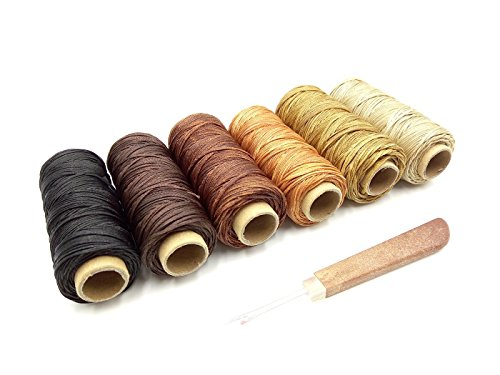 Inton 6pcs 210D Waxed Thread Sewing Supplies for Leather Tools Sewing Kit Leathercraft Kit Tools Stitching Sewing tools (210D, 6pc A) by Inton
