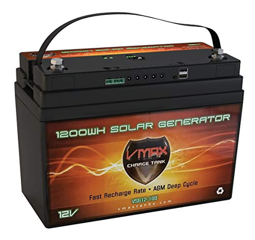 VMAX VSG12 AGM Marine Battery Replaces Sears 27524 12 Volt 100Ah AGM Group 31