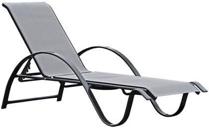 LIQUIDATODO ® - Set 2 tumbonas 5 posiciones de aluminio gris antracita moderna y barata: Amazon.es: Hogar