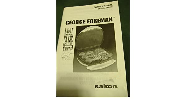 George foreman lean mean fat reducing grilling machine owners george foreman lean mean fat reducing grilling machine owners manual model no gr36 cb amazon books fandeluxe Images