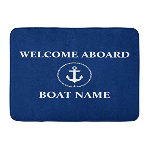 Custom Doormats Nautical Welcome Anchor Rope Boat Name Home Door Mats 15.7