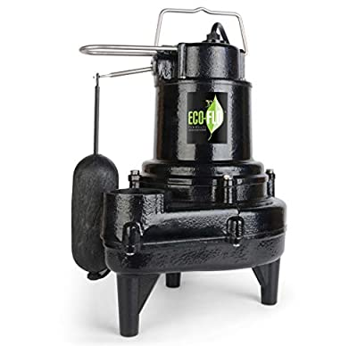 ECO-FLO Products EFSEW50A1 Sewage Pump, Black