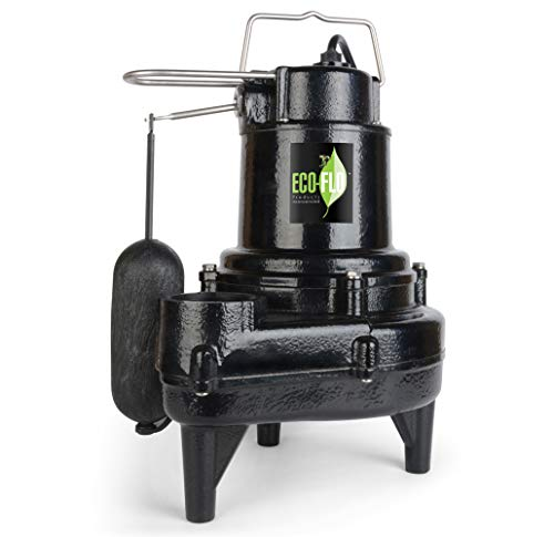 ECO-FLO PRODUCTS INCORPORATED EFSEW50A1 Sewage Pump, Black ()