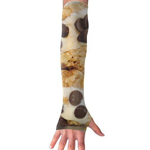 Homemade Oatmeal Cookie Ice Cream Sandwiches UV Protection Cooler Arm Sleeves Unisex Men Women Sun Protection Arm Cover Sleeve For Bike/Hiking/Running/Golf 1 Pair