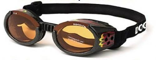 Doggles ILS Small Metallic Flames Frame and Orange Lens by Doggles by Doggles