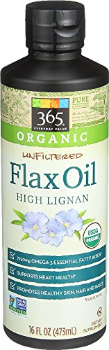 365 Everyday Value, Organic Unfiltered Flax Oil High Lignan, 16 fl oz 41N3L4mXG L