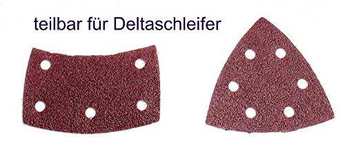 verschiedene K/örnungen w/ählbar // Schleifbl/ätter // Schleifpapier // Schleifscheiben 50 Blatt Klett Prio-Schleifpapier f/ür Multischleifer 105 x 152 mm Korn 180