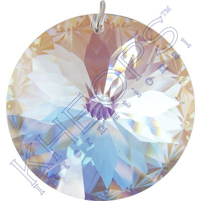 Ab Faceted Crystal (Prism Crystal 40 mm Round Prism AB)