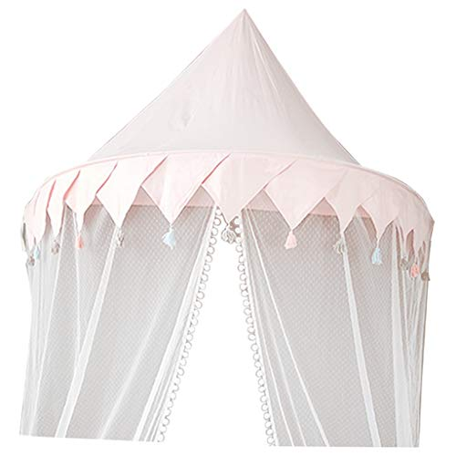 - B Blesiya Baby Half-Moon Shape Nursery Bed Canopy, Children Hanging Play Tent Mosquito Net for Kids Baby Bedroom Decoration -S –Pink