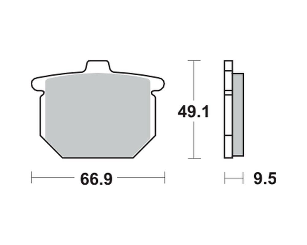 anteriore Pastiglie dei freni TRW MCB54 per HONDA CB 900 F SC01 79-81