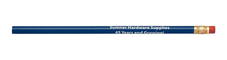Pencil Guy Promotional Personalized Imprinted Round Pencils.-1000 per Box Medium Blue