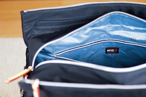 bugatti Ladies Lido, borsa da viaggio da donna con scomparto RFID, blu navy + portachiavi
