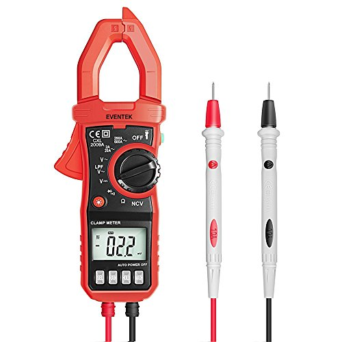 Digital Clamp Meter  4000 Counts Eventek Et820 Auto Ranging Multimeter With Ncv For Measuring Non Contact Ac   Dc 600V Volt   600A Amp   Frequency   Resistance   Capacitance   Continuity   Diodes