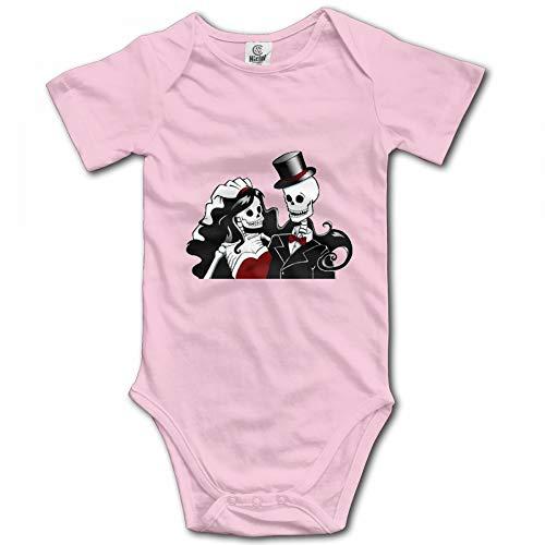 BenGalsworthy Skull Skeleton Couple Short Sleeve Baby Onesie 40 Pink
