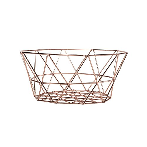 SummerHawk Ranch Geometric Egg Basket – Copper, Metal Wire, Chicken Poultry Equipment ()