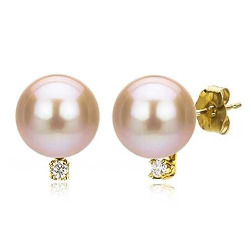 14k-Yellow-Gold-150cttw-Diamond-with-Round-Pink-Freshwater-Cultured-Pearl-Stud-Earrings