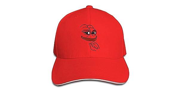 8e39ebf2c Pepe Meme Frog Men's Sandwich Snapback Hat