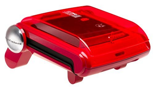 George Foreman GR19BWRR Contemporary Design Grill with Bun Warmer, Red