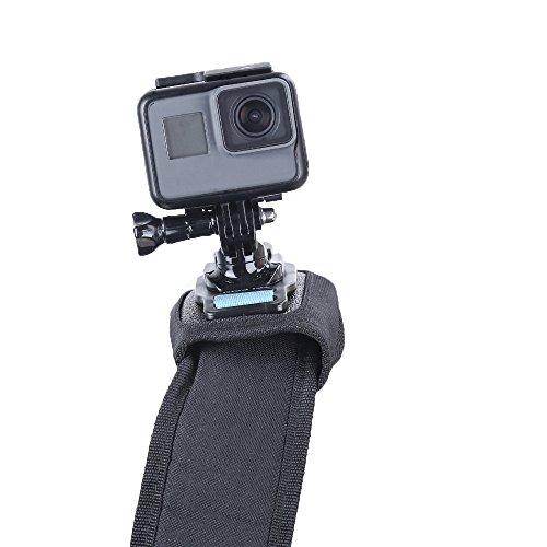 Modernlife Backpack Shoulder Strap Mount with 360 degree Rotary J Hook for Camera, Fast Release Adjustable Shoulder Strap Holder for GoPro Hero/Fusion/Session, Xiaomi, SJCAM, EKEN, SLR