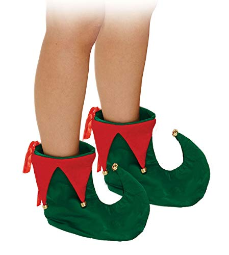 Unisex Santa Beard Elf Hat with Bells and Elf Shoes Adults Xmas Party Accessory/Elf Shoes]()