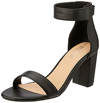 Human Premium Women's Portia Sandals, Black Leather, 36 EU