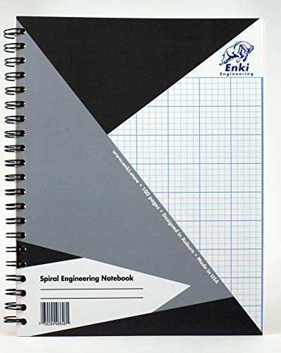 - Engineering Paper 200 sheet - Spiral Notebook (Grey Cover)