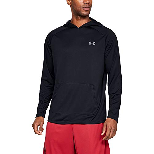 Under Armour Tech 2.0 Hoodie, Black/Pitch Gray, Large ()