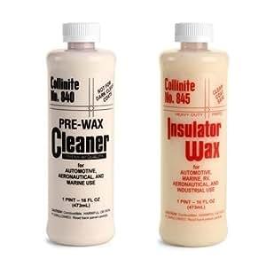 Collinite 840 Pre-Wax Cleaner & 845 Insulator Wax Combo Pack