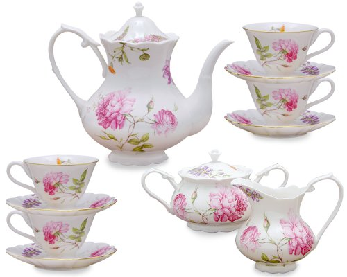 Grace Teaware 11 Piece Porcelain Tea Set Dahlia in the UAE  : 41N3Nsv2B2BqL from www.desertcart.ae size 500 x 400 jpeg 31kB