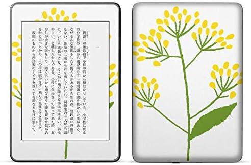 igsticker kindle paperwhite 第4世代 専用スキンシール キンドル ペーパーホワイト タブレット 電子書籍 裏表2枚セット カバー 保護 フィルム ステッカー 015855 花 フラワー 黄色