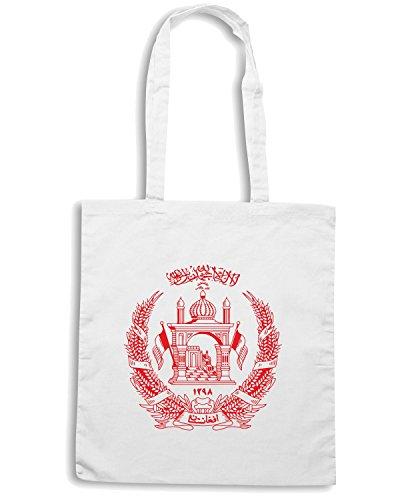 T-Shirtshock - Bolsa para la compra TM0148 afghnistan flag logo flag Blanco