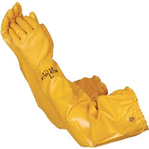 Atlas Gloves - 26'' Double-Dipped Nitrile - Extra Long Sleeve - Grommet (Size: XL) (12 Pairs of Gloves) - CWC-510058