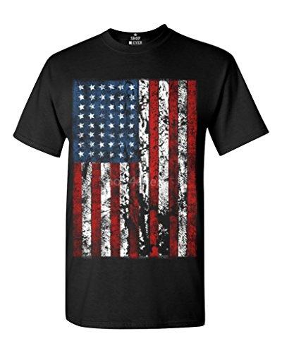 Shop4Ever® United States of America Flag Vintage T-shirt Flag Shirts