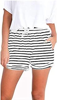 Famulily Women's Summer Beach Shorts Casual Comfy Pajama Shorts with Drawst