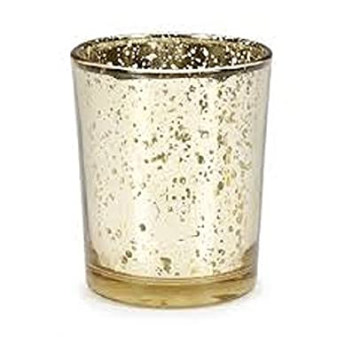 David Tutera Gold Spot Plating Glass Votive Cup - 1 Piece