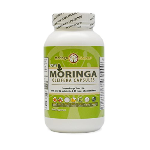 Moringa Oleifera Superfood 300 Capsules - Pure USDA Organic
