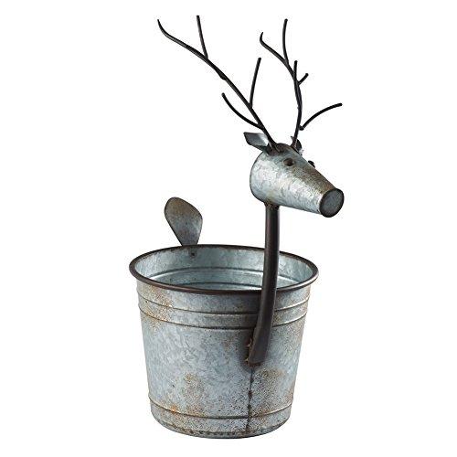 COUNTRY ORIGINALS,INC/KALALOU Deer Shaped Planter - Galvanized Metal Bucket Potpourri Basket