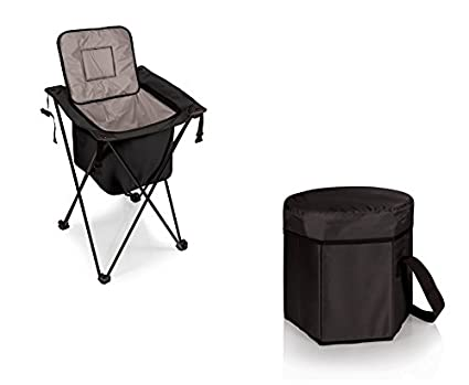 Picnic Time Sidekick Portable Cooler And Bongo Cooler Tote   Black, Set Of 2