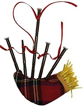 Irish Bagpipe Music Instrument Replica Christmas Ornament, Size 5 inch