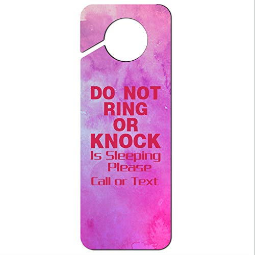 - Heart Wolf Do Not Ring or Knock Pink Baby is Sleeping Please Call or Text-1 White 9 Colors Graphics and More Stop Do Not Disturb Sign Plastic Door Knob Hanger Sign