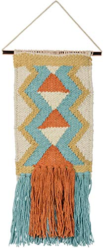 - Primitives by Kathy Small Woven Wall Hanging Tapestry - Wayfarer Pattern - Boho Chic Home Decor - Bohemian Ethnic Apartment, Dorm, Living Room, Bedroom, Office Decoration - 6
